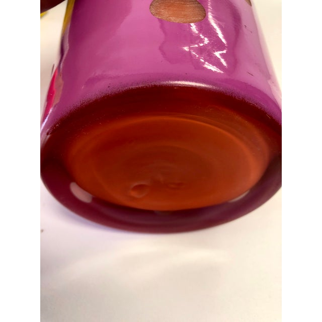 Art Deco 1990s Vintage Polish Justyna Mouth Blown Art Glass Vase For Sale - Image 3 of 6