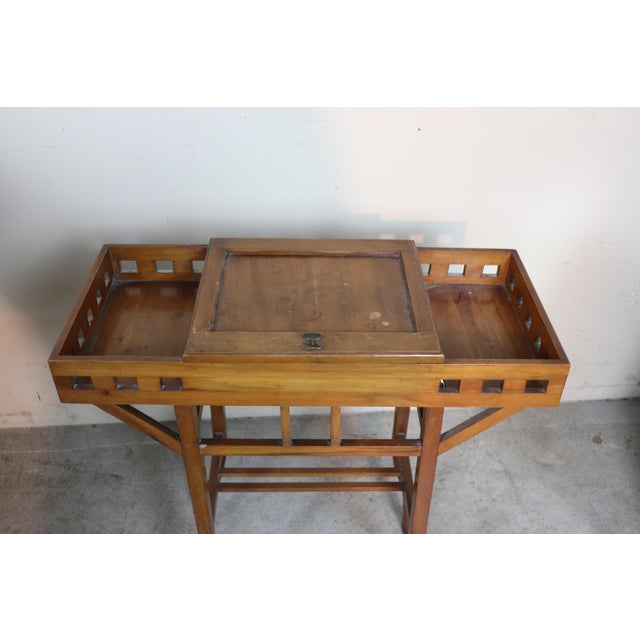 Art Nouveau 20th Century Italian Art Nouveau Sewing Table or Side Table For Sale - Image 3 of 10