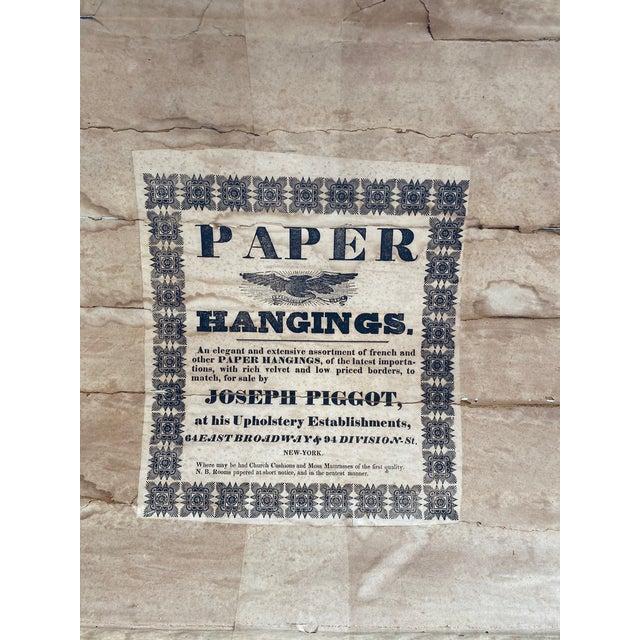 Mid 19th Century Antique Wallpaper Vendor Trunk For Sale - Image 5 of 13