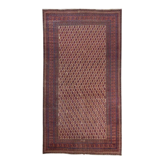 White Ground Allover Design Khorasan Carpet For Sale