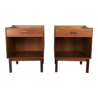 Danish Modern Teak Nightstands With Single Drawer-a Pair For Sale