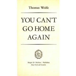 "1940 ""You Can't Go Home Again"" Collectible Book Preview"