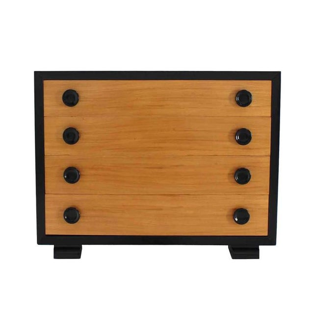 Brown Art Deco Two-Tone Four-Drawer Dresser For Sale - Image 8 of 8