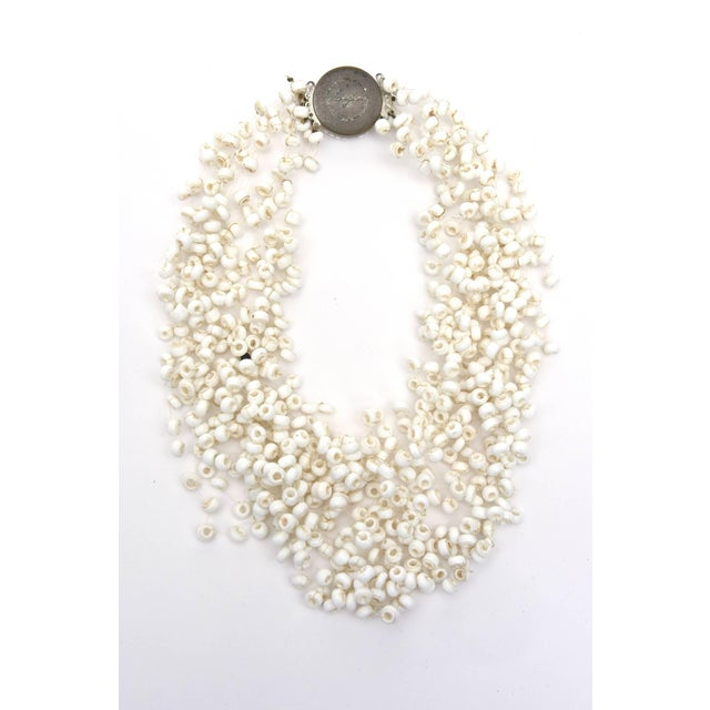 This wonderful and collectable multi strand signed Langani necklace designed by Anna Lang of Germany has a clean, airy and...