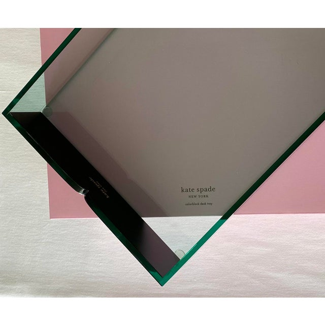Kate Spade Green Lucite Desk Tray For Sale - Image 9 of 11