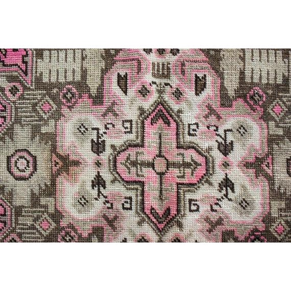 """Vintage Persian Area Rug - 6'5"""" x 9'3"""" - Image 9 of 11"""