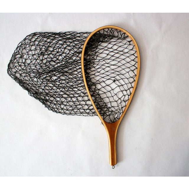 Cotton Vintage 1950s Fishing Net For Sale - Image 7 of 7