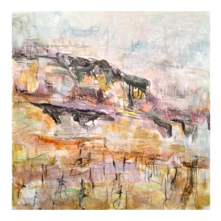 """""""Vineyard in Winter"""" by Trixie Pitts Abstract Landscape Painting"""