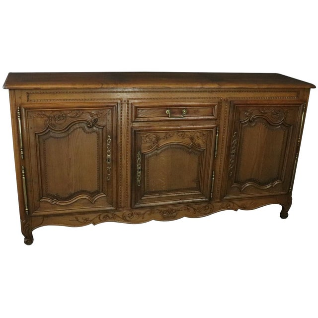 Sideboard Normandy Antique French 1890 Carved For Sale - Image 11 of 11