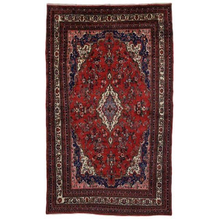 Vintage Kabudarahang Hamadan Persian Palace Rug - 10′6″ × 17′2″ For Sale