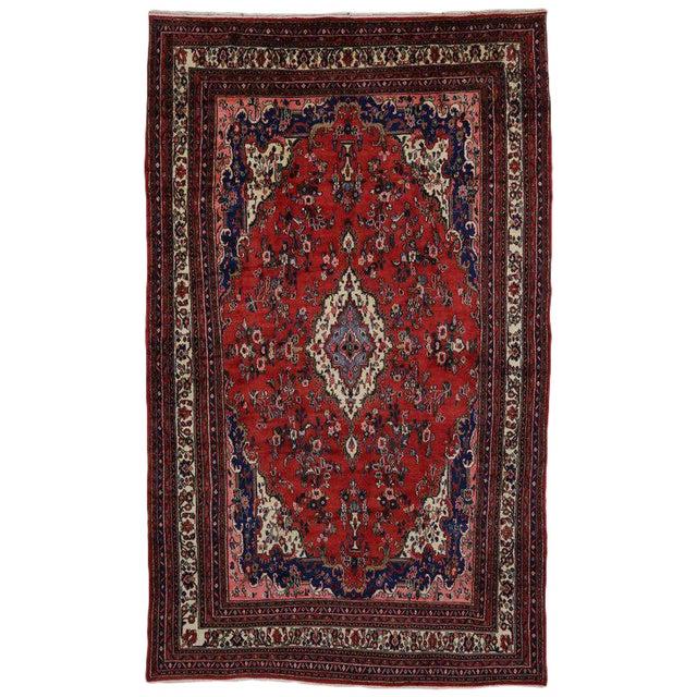 Vintage Kabudarahang Hamadan Persian Palace Rug - 10′6″ × 17′2″ For Sale