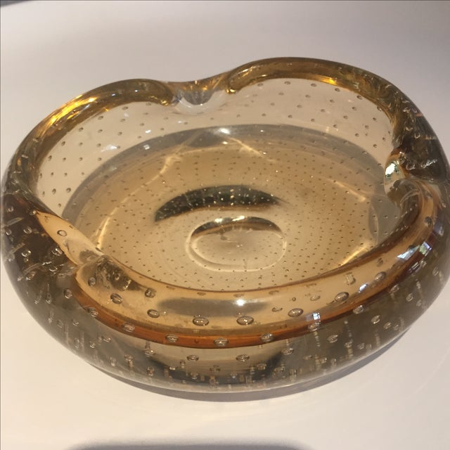 MC Lassie Bubble Gold Murano Ashtray - Image 3 of 5
