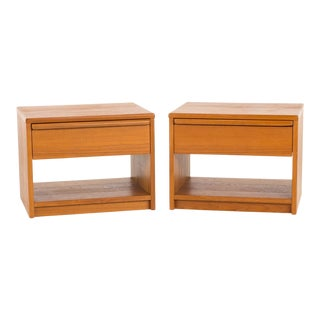 Uldum Mid Century Danish Teak Nightstands - a Pair For Sale