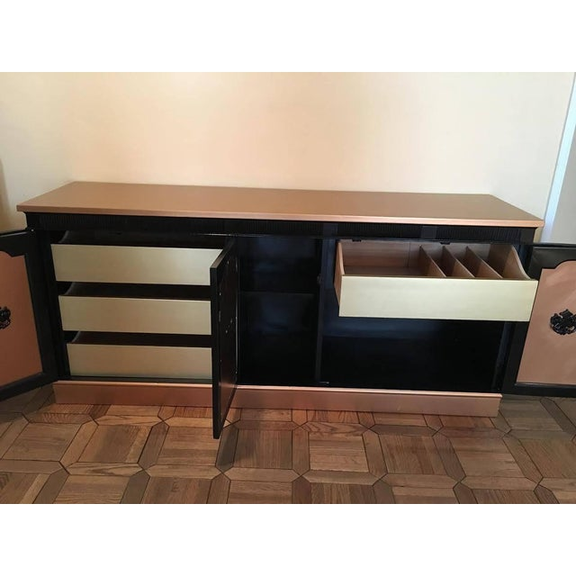 Rose Gold & Black Regency Sideboard - Image 5 of 6