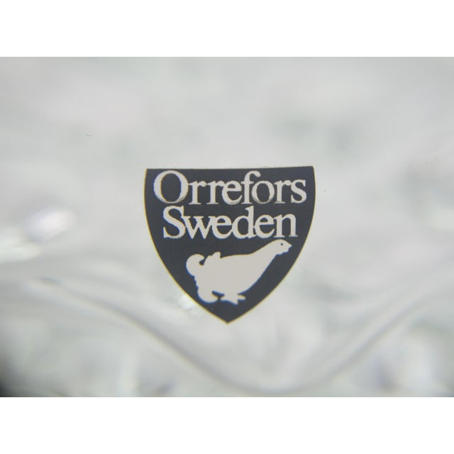 Olle Alberius Vintage Mid-Century Modern Olle Alberius for Orrefors Swedish Crystal Glass Decanter For Sale - Image 4 of 5