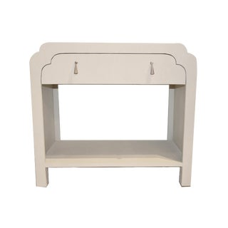 Scalloped Edge Side Table For Sale