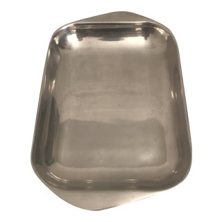 Large Nambe Sculptural Metal Serving Tray For Sale