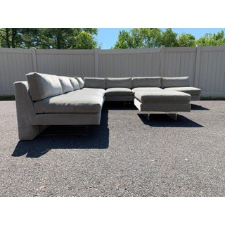 "Early 6-Piece Vladimir Kagan ""Omnibus"" Modular Sectional Sofa With Ottoman, 1963 Preview"
