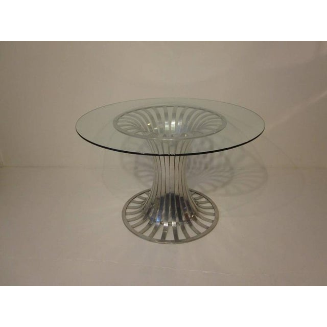Aluminum Russell Woodard Aluminium and Glass Dining Table For Sale - Image 7 of 8