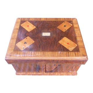 Early 19th Century Antique Biedermeier Style Compendium Gaming Box For Sale