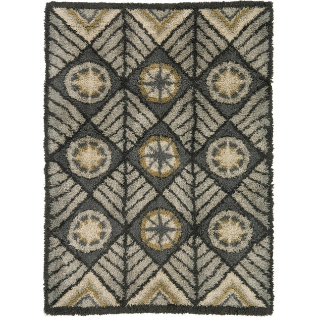 Mid 20th Century Swedish Rya Rug For Sale In New York - Image 6 of 6
