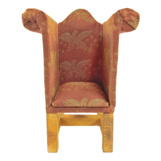 Decorative Tiny Upholstered Miniature Chair – Dollhouse Furniture