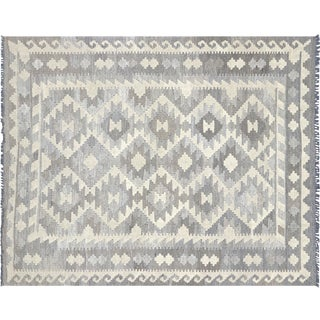 """Nalbandian - Contemporary Afghan Kilim - 5' X 6'3"""" For Sale"""