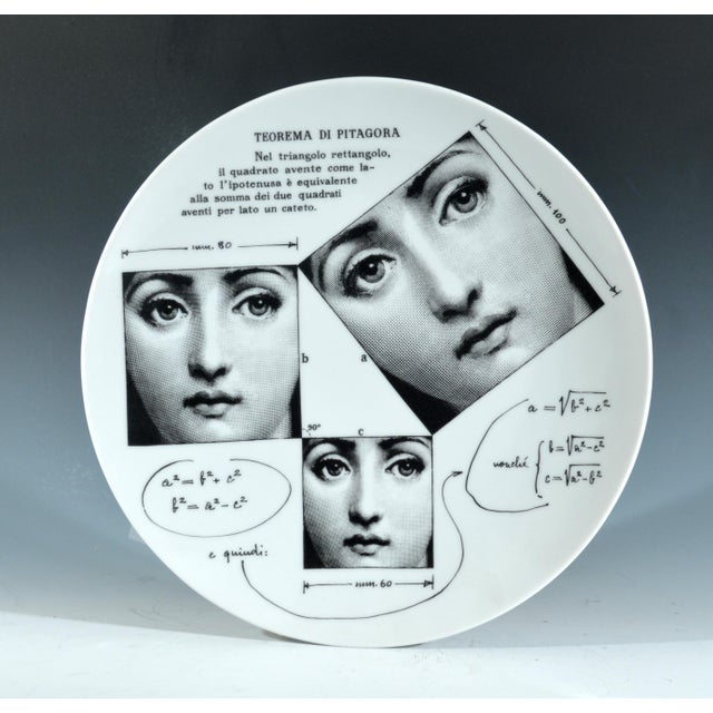 Fornasetti Tema E Variazioni Plate, Number 183 - Image 2 of 3