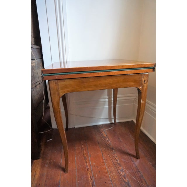 19th Century 19th Century French Walnut Game Table For Sale - Image 5 of 9