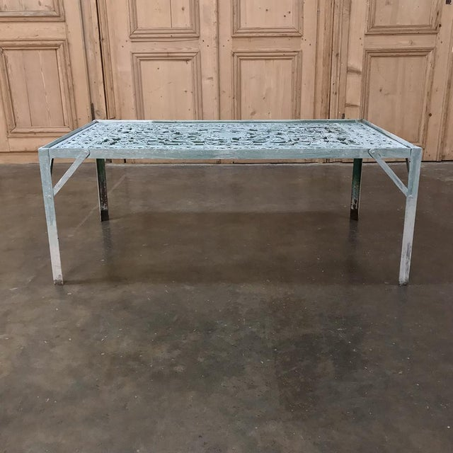 Belle Epoque 19th Century Iron Panel Coffee Table For Sale - Image 3 of 12