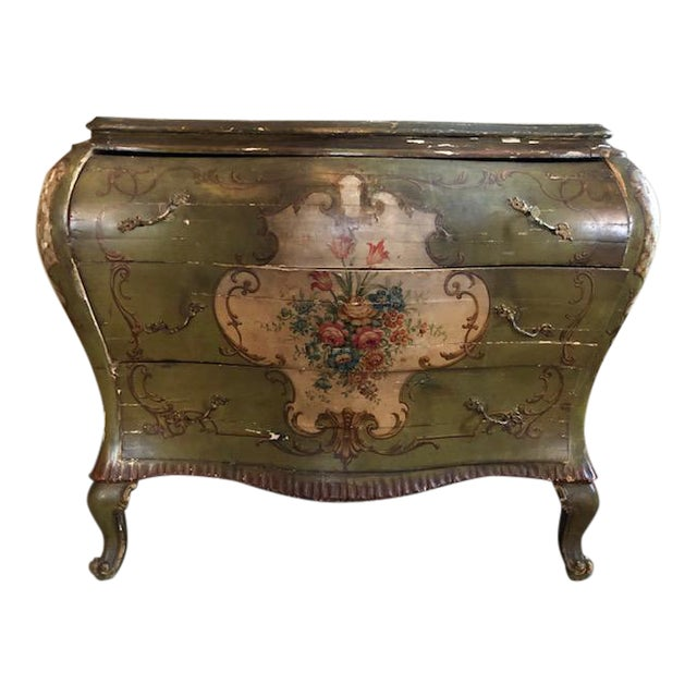 18th Century Venetian Rococo Bombe Chest of Drawers For Sale