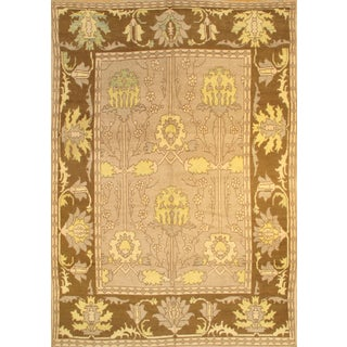 "Pasargad NY Turkish Oushak Design Hand-Knotted Rug - 10'1"" X 14'10"" For Sale"