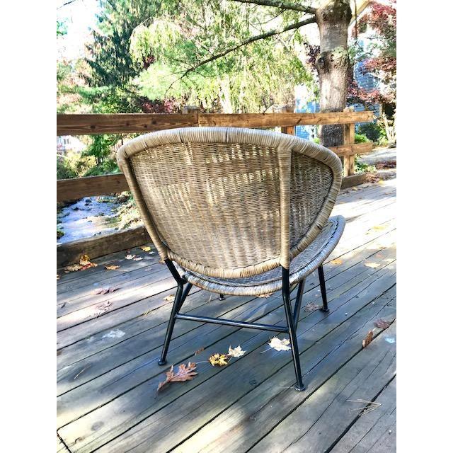 John Salterini Mid Century Modern Salterini Clam Shell Chair For Sale - Image 4 of 10