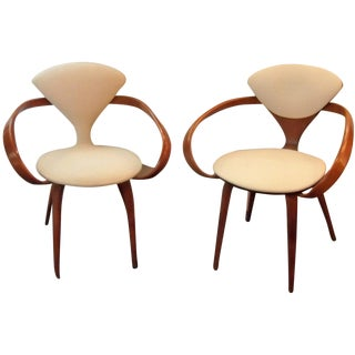 Norman Cherner Pretzel Chairs - a Pair For Sale