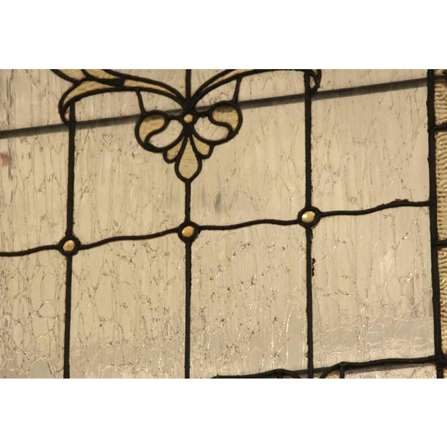 Mid 20th Century Vintage Mid Century Jeweled Stained Glass Windows- A Pair For Sale - Image 5 of 11