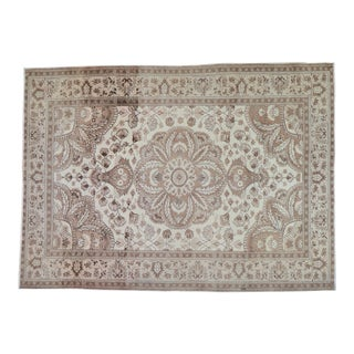 """Vintage Turkish Anatolian Hand Knotted Organic Wool Fine Weave Rug,4'11""""x6'10"""" For Sale"""