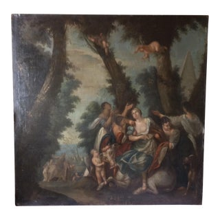 """""""Rape of Europa"""" Antique Master Painting For Sale"""