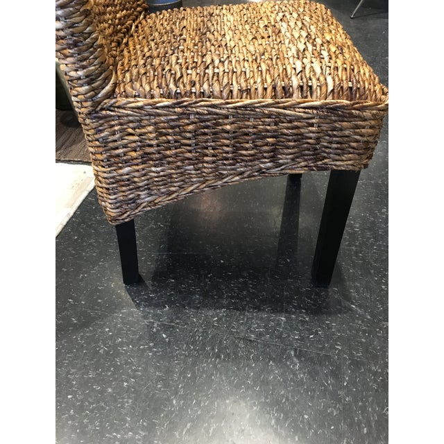 Kenneth Ludwig Chicago Woven Rattan Dining Chair For Sale - Image 4 of 8