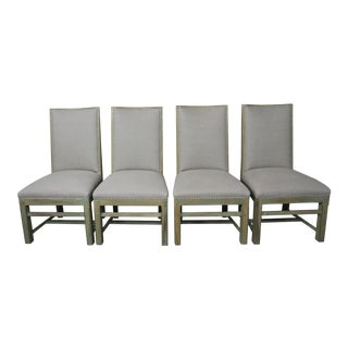 Set of Four Swedish Painted Dining Chairs
