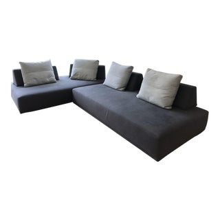 Danish Modern Modular 2 Piece Sofa For Sale