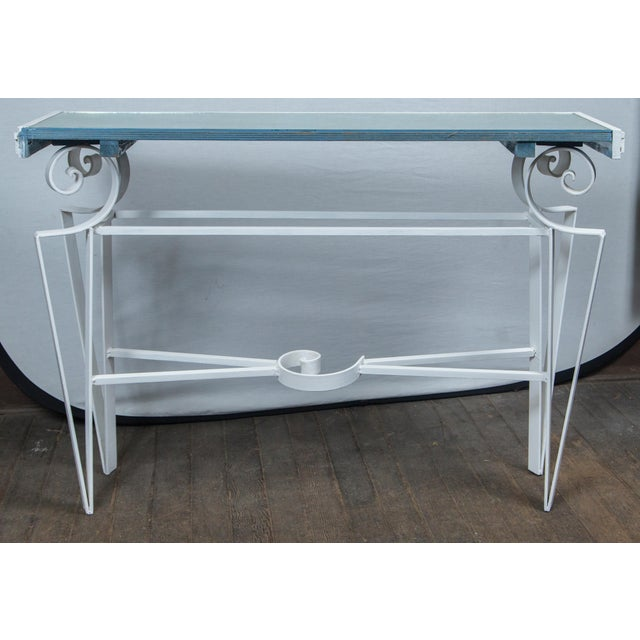 Dorothy Draper Style Wrought Iron Console For Sale - Image 10 of 11