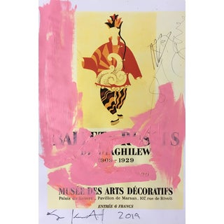 Abstract Framed Picasso Poster Painting by Sean Kratzert 'Pink Dancer' For Sale