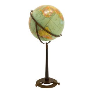 Replogle Globe on Modernist Stand