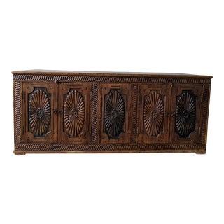 Vintage Carved Wood Credenza For Sale