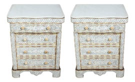 Image of Mother-of-Pearl Nightstands