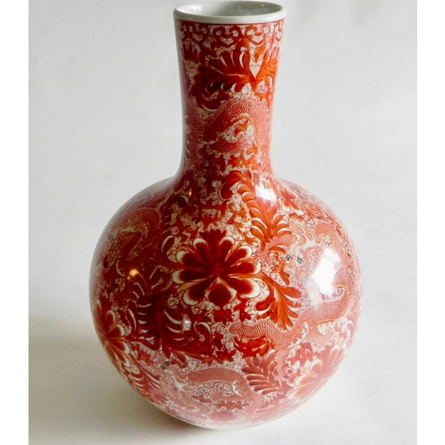 Beautiful polished porcelain hand painted large vase. Wonderful focal point accent for any room. New piece in the...