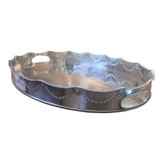 Vintage Large Sheffield Silver Gallery Tray For Sale