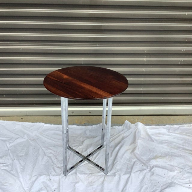 Midcentury Modern Rosewood & Chrome Drinks Table For Sale - Image 11 of 11