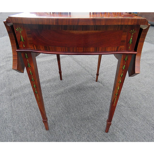 Wood Adam's Style Pembroke Table For Sale - Image 7 of 11