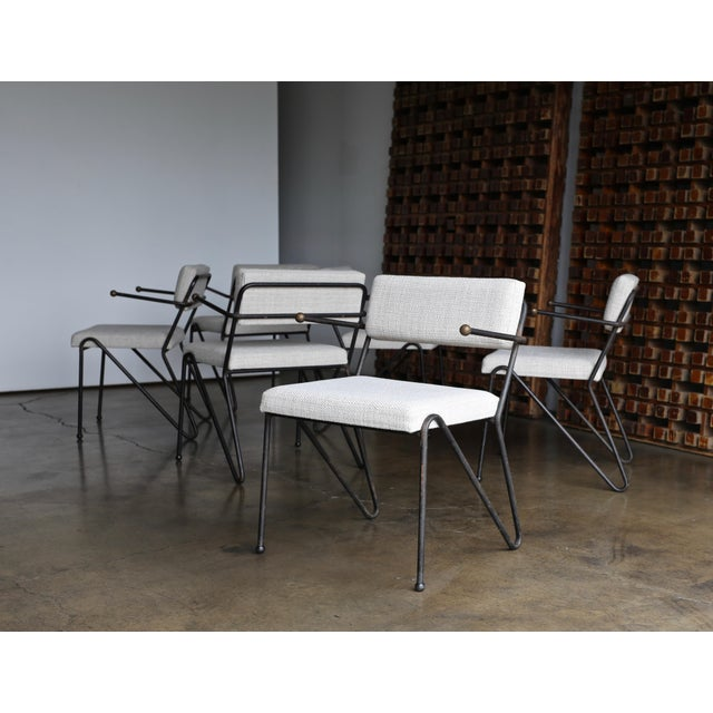 Metal 1950 George Kasparian Dining Chairs - Set of 6 For Sale - Image 7 of 13
